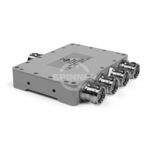 Coaxial 4-way splitter 300 W 694-3800 MHz 4.3-10 female product photo