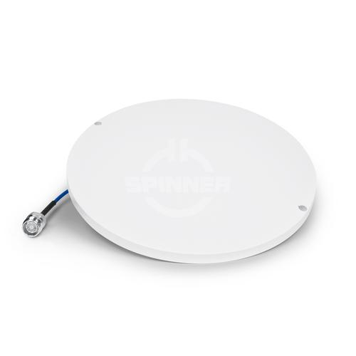 SISO 1-port thin H-Pol omni chip in-building antenna 380-2700 MHz 4.5 dBi 360° 4.3-10 female product photo