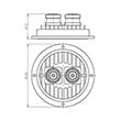 50 W 3 dB attenuator 1710-1880 MHz 7-16 female to 7-16 female low PIM product photo