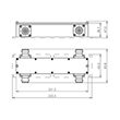 Coaxial directional coupler 3 dB X-Style 350-2700 MHz 4.3-10 female product photo Back View S